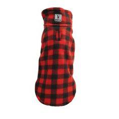Red Plaid Fleece Dog Jacket on the redditgifts Marketplace