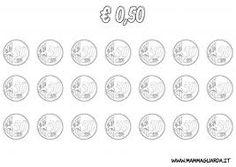 Risultati immagini per euro da colorare per bambini