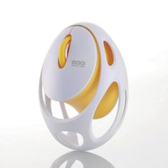 This is a remarkably lightweight cordless mouse. Designed to look like an egg, which has a familiar and universally beautiful shape, it weighs only 30 grams. Free from any worry of weight, this mouse can be operated with surprisingly slight pressure,. Id Design, Form Design, Shape Design, Egg Designs, Cool Designs, Design Awards, Design Trends, Computer Gadgets, 3d Mesh