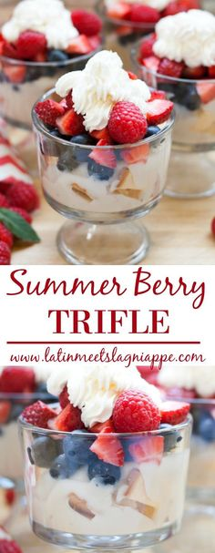 This Summer Berry Trifle is the perfect, easy dessert for any occasion!