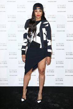 Ciara in Anthony Vaccarello - At a Stuart Weitzman cocktail party, September 2014