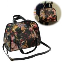 New Retro Women's Girl Printing Briefcase Handbag Cross Shoulder Bag
