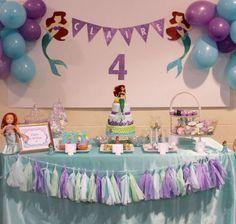 Ariel mermaid Birthday Party Ideas | Photo 6 of 13 | Catch My Party