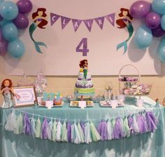 Ariel mermaid Birthday Party Ideas | Photo 6 of 13 | Catch My Party