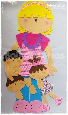 .::BAÚ DE LETRAS::. E.v.a. e Scrapbook: Sala de Aula Foam Crafts, Diy And Crafts, Crafts For Kids, Paper Crafts, Education Clipart, Cupcake Card, Fabric Cards, Applique Fabric, Scrapbook