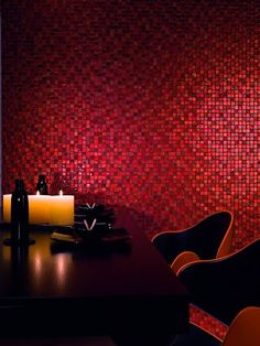 Red Mix Material Mosaic by Dune Ceramica.
