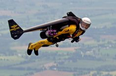 Jetman – this is the name Yves Rossy choose for himself when he become the world's first flying man, using a pair of wings strapped to himself and some small jet engines for propulsion.
