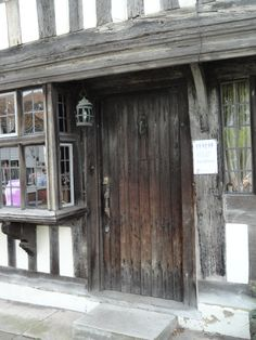 Door to Tudor era pub turned business office - Rye, England