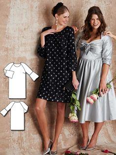 Bell Sleeve Mini Dress 03/2016 #130 http://www.burdastyle.com/pattern_store/patterns/bell-sleeve-mini-dress-032016?utm_source=burdastyle.com&utm_medium=referral&utm_campaign=bs-tta-bl-160229-BridesmaidDressesCollection130