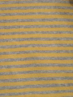 20€/m Bio-Ringel-Jersey-Gelb-Grau von cottonfish auf DaWanda.com