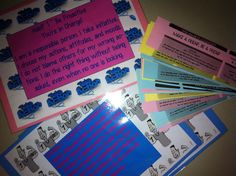 7 Habit tickets and table signs for Mix it Up At Lunch Day. Students sit at the designated ticket-table.