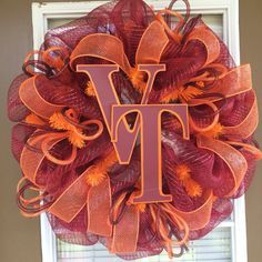 Virginia Tech Door Wreath by SouthernWreathDesign on Etsy, $75.00