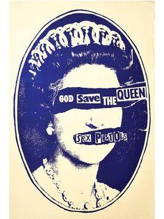 """Save the Queen"" Print by Annex Art - www.inkedshop.com#inked #inkedmag #Inkedgirls #Inkedguys #savethequeen #annexart #artsy #aesthetics #art"