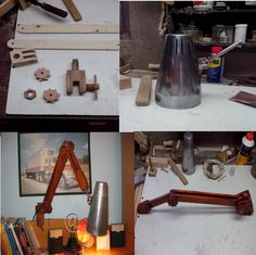 How make wooden lamp
