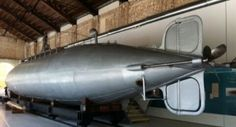 First naval submarine of History. The Isaac Peral. Cartagena Naval Museum. Spain.