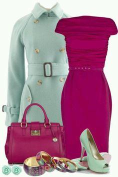 Este es excelente me encanta, combinar rosa con verde