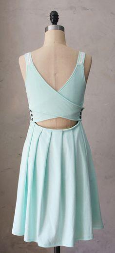 Mint cross back dress