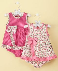 Sewing Baby Girl First Impressions Baby Sunsuit, Baby Girls Sundress - Kids Baby Girl months) - Macy's - Little Dresses, Little Girl Dresses, Girls Dresses, Toddler Dress, Toddler Outfits, Kids Outfits, Infant Toddler, Baby Dress Patterns, Sewing Patterns Girls