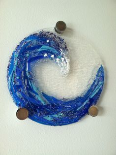 Tish Art Glass - Wave #1 hung Very creative artist. She makes everything so beautiful. Please check her out.