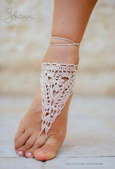Украшение для ног для девочек и женщин от ZHAVIknitwear на Etsy, $13.00