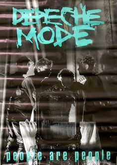 For Sale - Depeche Mode People Are People UK Promo  poster - See this and 250,000 other rare & vintage vinyl records, singles, LPs & CDs at http://eil.com