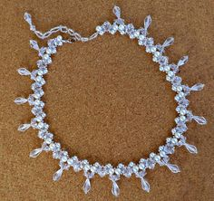 Free pattern for necklace Pearls with Ice