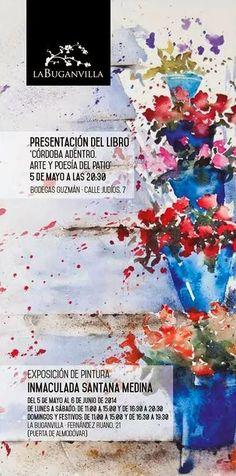 http://mezquita.uco.es/record=b1725723~S6*spi CÓRDOBA ADENTRO: ARTE Y POESÍA DEL PATIO. Este libro recogepoemas de Angeles Sancho y acuarelas de Inmaculada Santana, con los patios cordobeses como inspiración única