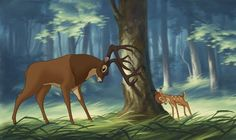Bambi and Father(great prince of the forest)