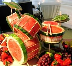 Watermelon Drum Set from Food Stylin