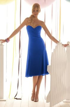After Six 6273 Bridesmaid Dress in Sapphire Blue | Weddington Way $170