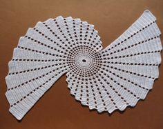 New crochet doily - runner / white doilies / table topper /home decor /