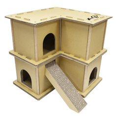 Guinea Pig House, Guinea Pigs, Bunny Care Tips, Indoor Rabbit House, Bunny Room, Bunny Beds, Cat Room, Cardboard Cat House, Cat House Diy