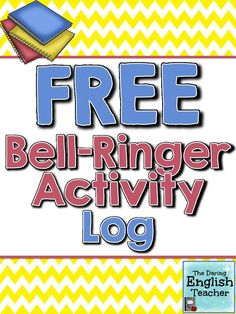 This is a FREE activity log. Your students can use this log to keep track of their daily bell work.