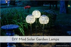 Simple Tips About Solar Energy To Help You Better Understand. Solar energy is something that has gained great traction of late. Both commercial and residential properties find solar energy helps them cut electricity c Solar Lamp, Diy Solar, Deco Floral, Arte Floral, Landscape Lighting, Outdoor Lighting, Lighting Ideas, Yard Lighting, Outdoor Lamps