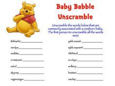 Winnie the Pooh Baby Shower Game Packs 2 Games by DesignsbyMsJean, $6.50