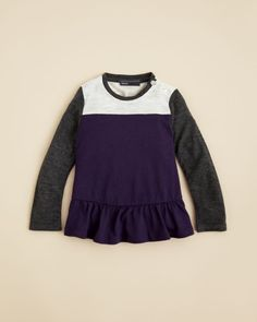 Vince Infant Girls' Color Block Peplum Tee - Sizes 6-24 Months