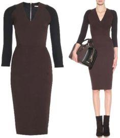 Dramatic Classic slinky tailored sheath dress. By Victoria Beckham.
