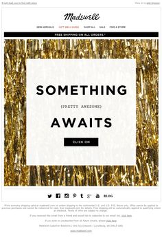 Madewell - Here's a hint Marketing Logo, Email Marketing Services, Digital Marketing, Birthday Email, Mailer Design, Holiday Emails, Sale Emails, Campaign Posters, Promotional Design
