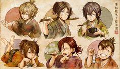 Hakuouki guys as kids