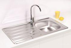 AS-Zool 30 stainless steel undermount sink Stainless Steel Double Sink, Undermount Stainless Steel Sink, Stainless Kitchen, Undermount Sink, Corner Sink Kitchen, Kitchen Sinks, External Doors, Home Accessories, Stainless Steel Kitchen