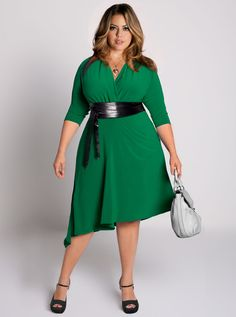Also love the shape and color here, especially with the belt! not so much the hemline, though