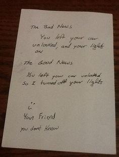 Esta nota de un nuevo amigo. | 35 imágenes que demuestran que el mundo no es un lugar tan malo