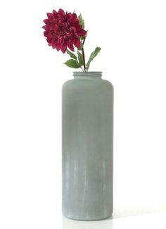 "Bodenvase ""Betonoptik"" aus Glas 70 cm hoch"