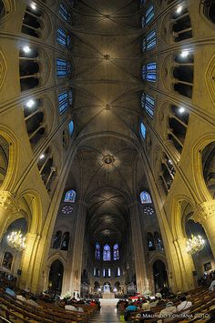 Notre Dame inside 04   Flickr - Photo Sharing!