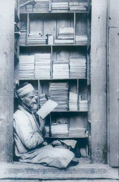 Bookseller in Jerusalem , Palestine 1935