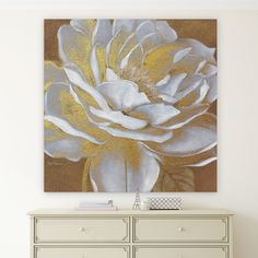 Wexford Home 'Golden Bloom I' Canvas Premium Gallery-wrapped Wall Art