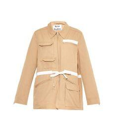 ACNE STUDIOS Avon drawstring safari jacket ($236) ❤ liked on Polyvore