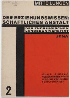 Walter Dexel. Mitteilungen der Erziehungswissen:/Schaftlichen Anstalt der Thüringischen Landesuniversität Jena. c. 1924
