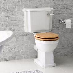 Georgia II Staand Toilet Met Spoelbak & Eiken Effect Zitting 1