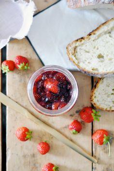 Strawberry Lavender Jam | lark & linen